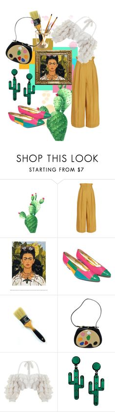Que KAHLO by lilfuzzypeach on Polyvore featuring Zimmermann, Sonia Rykiel and Moschino  So much cuteness here, look at those cactus earrings and that painters purse!  #vintage #loveit #wow #southwest