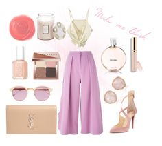 """Make me Blush"" by karla-snyders on Polyvore featuring Roksanda, Sheriff&Cherry, Essie, Monica Vinader, Chanel, Bobbi Brown Cosmetics, Christian Louboutin, Voluspa, Yves Saint Laurent and Rituel de Fille"