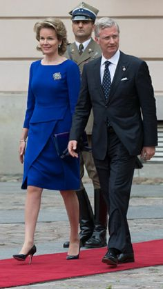Queen Mathilde of Belgium and King Philippe of Belgium at a ceremony for the 25 years anniversary of the first free elections in Warsaw, Poland, 04.06.2014