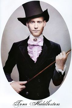 A combo of a Willy Wonka, Mad Hatter and 1800s outfit on Tom Hiddleston by ~AnnaProvidence on deviantART