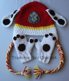 Crochet toddler paw mitten Marshall Paw Patrol Materials: – medium worsted weight yarn in white -Small amount of black yarn for spots -Small amount of brown yarn for paw pads -Hook size: I and F -Blunt needle Abbreviations: ch- chain sc- single crochet st(s)- stitch(es) sc2tog- single crochet 2 together sl st- … … Continue reading →