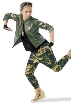 Capability dress and dancing halloween costumes features on-trend design for all genres of interact. Dance Recital Costumes, Cute Dance Costumes, Mom Costumes, Costume Ideas, Hip Hop Outfits, Dance Outfits, Dancing Outfit, Camo Outfits, Hip Hop Costumes