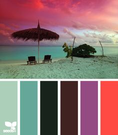mental vacation....good colors for my den makeover.....new couch will be teal and I must have a shot of purple!
