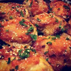 MMM siracha honey chicken!!  #recipe #chicken #paleo