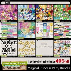 Oscraps :: Clever Monkey Graphics :: Magical Princess Party Bundle by Clever Monkey Graphics