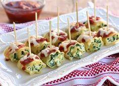Mini Spinach Lasagna Roll-Ups