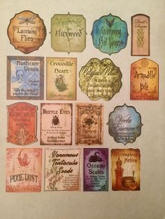 Excited to share this item from my shop: 16 Adhesive Sticker Tall Potion Bottle Labels Halloween Witch Wizard Party Prop Apothecary Inspired by Harry Potter Wedding/Party Favor Harry Potter Thema, Classe Harry Potter, Harry Potter Decor, Harry Potter Cast, Harry Potter Wedding, Harry Potter Birthday, Harry Potter Hogwarts, Potion Bottle, Bottle Labels