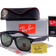 Brand New Authentic Ray-Ban 2140 Wayfarer with Box Brand New & 100% Authentic. Comes packaged with manual, box and carrying case Ray-Ban Accessories Sunglasses