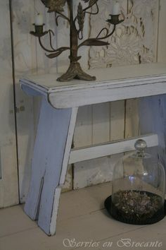 small shabby bench