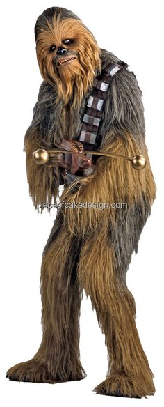 Chewbacca - Star Wars - Birthday - Edible Image Cake/Cupcake Topper - D6308