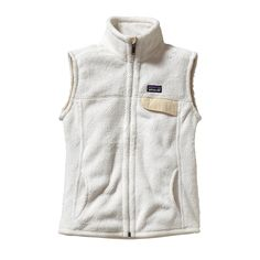 Patagonia Women's Re-Tool Vest - Made of our soft Re-Tool polyester fleece, the Re-Tool Vest has a tall collar, handwarmer pockets and a chest pocket with a Supplex® nylon flap.