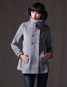 Gray print coat