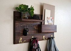 Coat rack mounted on wooden strip. It is fitted with open shelf, holder for letters and more. Designed for assembly on the wall. It provides saving space in any interior. It is very well appreciated by customers.