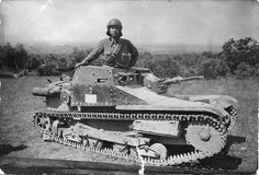 """Italian """"Armored"""" Tank, WWII. These tiny death-traps gave the illusion of having thick armor plate; in reality they were fabricated mostly from light-gauge sheet metal. Most crews of these tanks, in time-honored Italian Army tradition, abandoned their vehicles and surrendered at their first opportunity."""