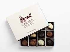Caragh Chocolate is a real life island story. For over 20 years, Caragh Chocolates has been based on Sark, the smallest of the Channel Islands. Sark is a quaint and enchanting place—no cars are allowed, so people primarily travel by bike or even horse and carriage. Distil Studio has designed the packaging for Caragh Chocolates, celebrating the island of Sark where these delectable treats are made.