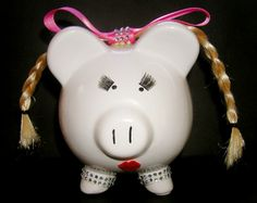 Image detail for -Piggy Bank Rock Girl* « Butterfly Kiss Design