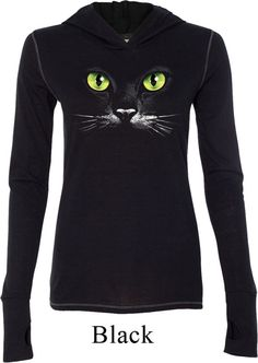 Mesdames Halloween Shirt Black Cat Tri fusion par BuyCoolShirts