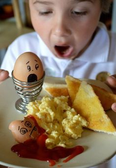 Humpty dumpty had a great fall... Scare your kid first thing in the morning with this one!