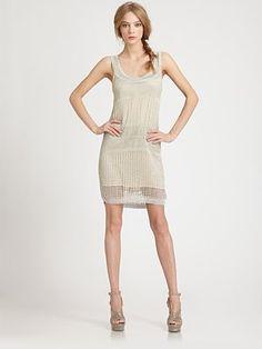 Alice + Olivia - Chambray Metallic Tank Dress - Saks.com