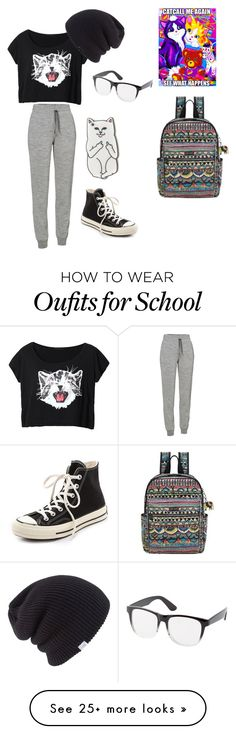"""""""Last Day of School"""" by sick-rocknroll-lover on Polyvore featuring RIPNDIP, Icebreaker, Sakroots, Coal, Charlotte Russe and Converse"""