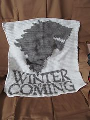 Ravelry: House Stark Crochet Sigil/Banner pattern by Acquanetta Ferguson