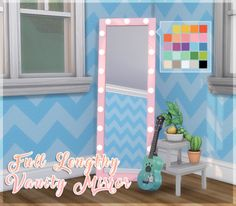 Lana CC Finds - faerieflower: Full Lengthy Vanity Mirror Mesh Edit...