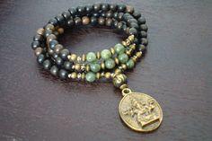 *Women's Protection & Prosperity Mala Necklace/Wrap Bracelet by 5thElementYoga...