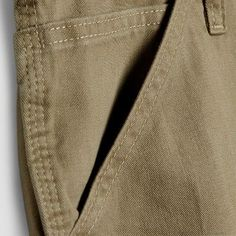 Wrangler Men's Relaxed Fit Carpenter Jeans - British Khaki 34x30