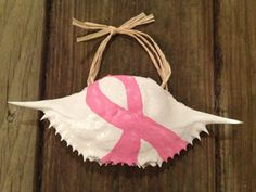 Hand painted crab shell ornament with Pink by SeaIslandArtworks, $9.95