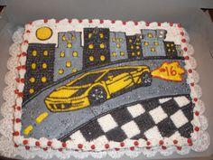 Lamborghini Birthday Cake Birthday Cakes For Men, 10th Birthday, Men Birthday, Birthday Parties, Birthday Ideas, Nascar Party, Race Party, Lamborghini Cake, Party Themes