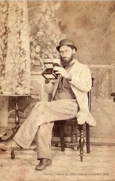Thomas J. Nevin | Tasmanian Photographer: The Governor's Levee 1855: Captain Goldsmith and son Edward