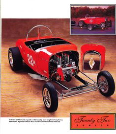 This is an A Altered roadster. Very difficult to control under acceleration. Buick Nailhead, 32 Ford Roadster, Chip Foose, Drag Racing, F1 Racing, Drag Cars, Car Humor, Toy Store, Hot Wheels