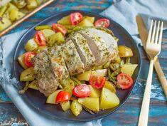 Sheet Pan Lemon Pesto Pork Tenderloin
