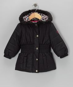 Take a look at this Black Leopard Puffer Coat - Infant, Toddler & Girls by Pink Platinum & iXtreme on #zulily today!