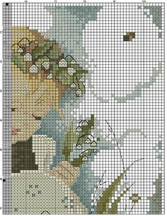 """Lily Of The Valley"" Hummel cross stitch  -  pattern 1B"