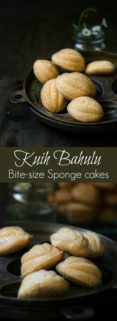 This little sponge cakes are known as Kuih Bahulu ~ baked mostly for festive seasons in Malaysia.
