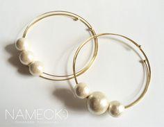 3つの輪っかと3つのコットンパールブレス by NAMECK:) ナメック アクセサリー ブレスレット
