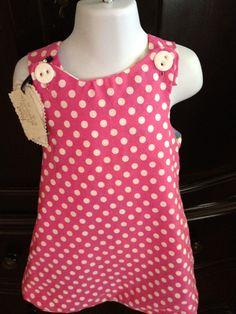 Floral polka dots hot pink jiumper summer dress by 3BusyBirds, $18.00