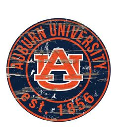 Fan Creations Auburn Tigers Distressed x Round Wall Art Auburn University, Louisiana State University, Auburn Tigers, Auburn Football, Clemson, Tiger Home, Bird Barn, Barn Owls, Vintage Vibes