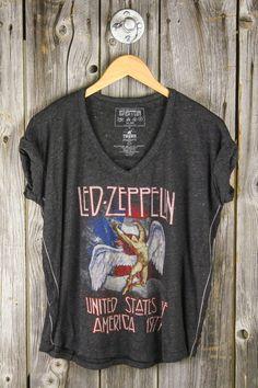 LArge.....TRUNK LTD Led Zeppelin U.S. Tour 1977 Burnout Tee