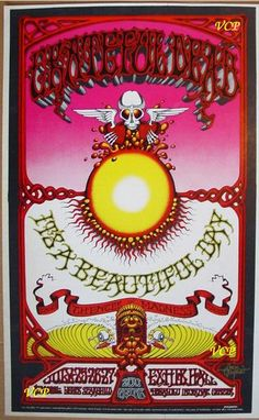 Grateful Dead - Griffin's Hawaiian Aoxo Poster, 1969