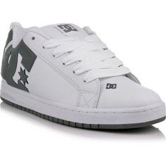 Download: Tenis DC Shoes Court Graffik Branco e Cinza – DC Shoes my dad has these and they are comfy i try them on a lot