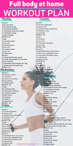 Upper Body Workout Plan, Full Body Workout Routine, Full Body Workout At Home, Summer Body Workouts, Workout Routines For Women, Workout Plan For Women, Weight Loss Workout Plan, At Home Workout Plan, At Home Workouts