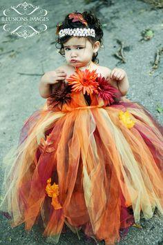 Fall Tutu dress!  http://www.facebook.com/craftybabydesignsbyashley