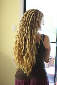 half dreadlocks - pretty but that would be a tangled mess in no time!