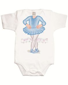 Just Add a Kid 'Ballerina Blue' Bodysuit available online at http://www.babycity.co.uk/