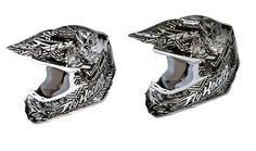 Fly Adult F2 Carbon Helmet New Black White Black Silver Size Small 73 401 ECKLUND MOTORSPORTS