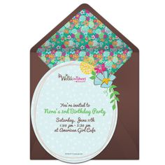 Customizable, free Wellie Wishers | Floral online invitations. Easy to personalize and send for a party. #punchbowl