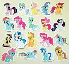 My Little Pony friendship is magic sticker pack. $7.50, via Etsy.