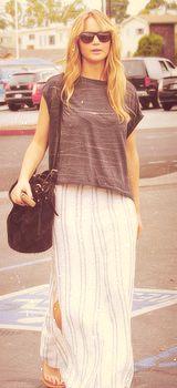Jennifer Lawrence candid outfits - 2012